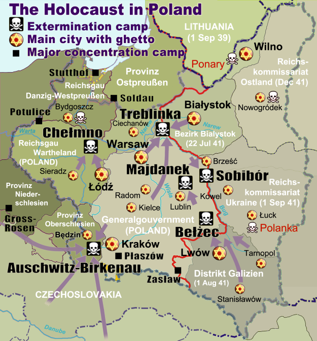 Death camps in Poland