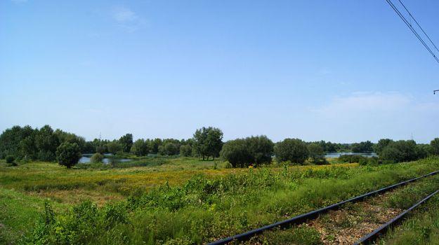 Przylasek_Rusiecki_Lakes_(view_from_SE),_Rzepakowa_street,_Nowa_Huta,_Krakow,_Poland