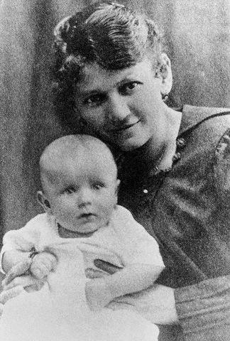 Karol Wojtyla with His Mother
