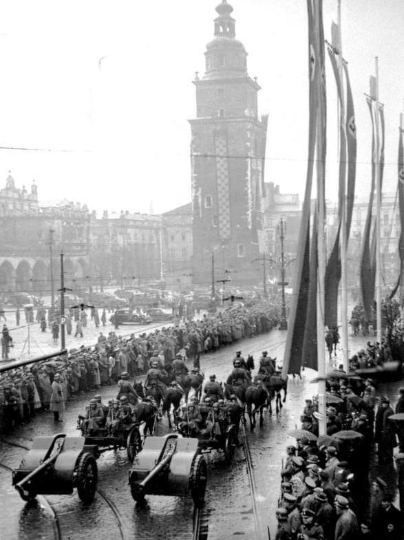Krakau, Parade von SS und Polizei