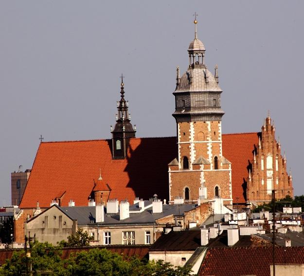 Corpus_Christi_church_in_Kraków,_view_from_the_Wawel_Hill