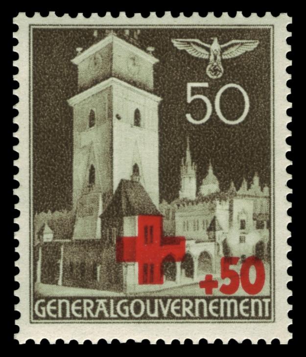 Generalgouvernement_1940_54_Rotes_Kreuz,_Rathausturm_in_Krakau