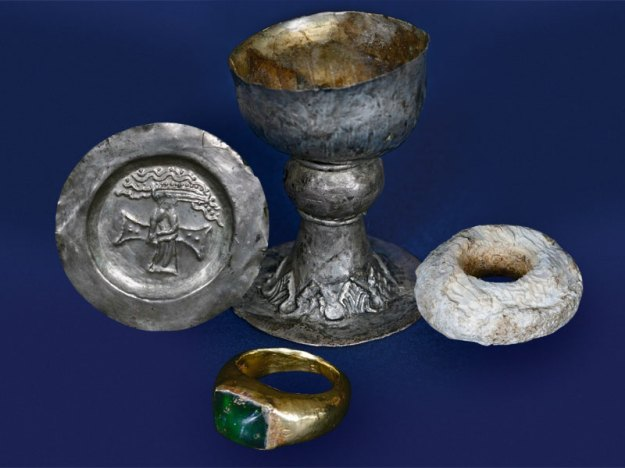 Objects from the grave of Bishop Maurus, second half of the 12th century
