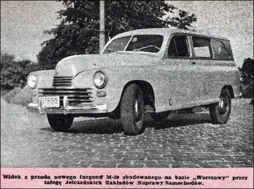 fso 1957 warszawa-furgon